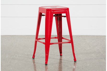 Radical Red 26 Inch Counter Stool - Main