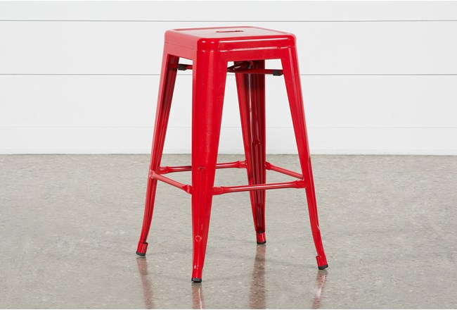 Radical Red 26 Inch Counter Stool Living Spaces