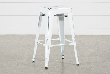 Radical White 26 Inch Counter Stool