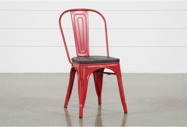Delta Red Dining Side Chair - 360