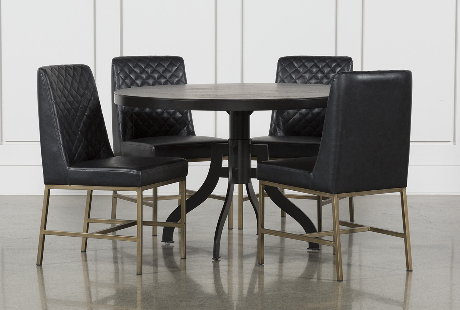 Foundry Round 5 Piece Dining Set With Dom Side Chairs