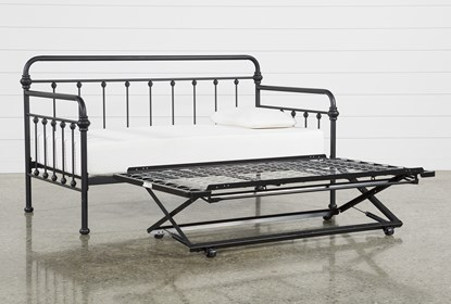 Knox Metal Daybed With Revive Pop Up Trundle Living Spaces