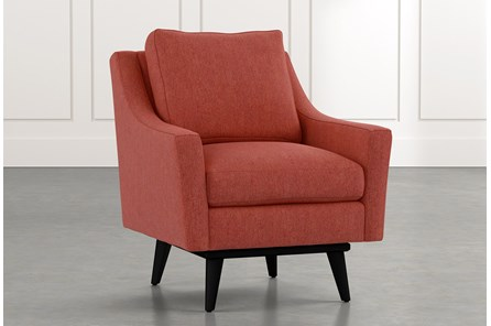 Devon II Red Swivel Accent Chair