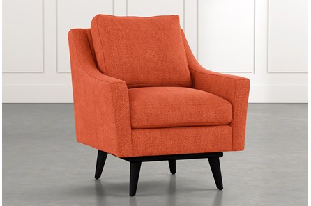 Devon II Orange Swivel Accent Chair