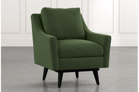 Devon II Green Swivel Accent Chair
