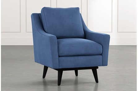Devon II Blue Swivel Accent Chair