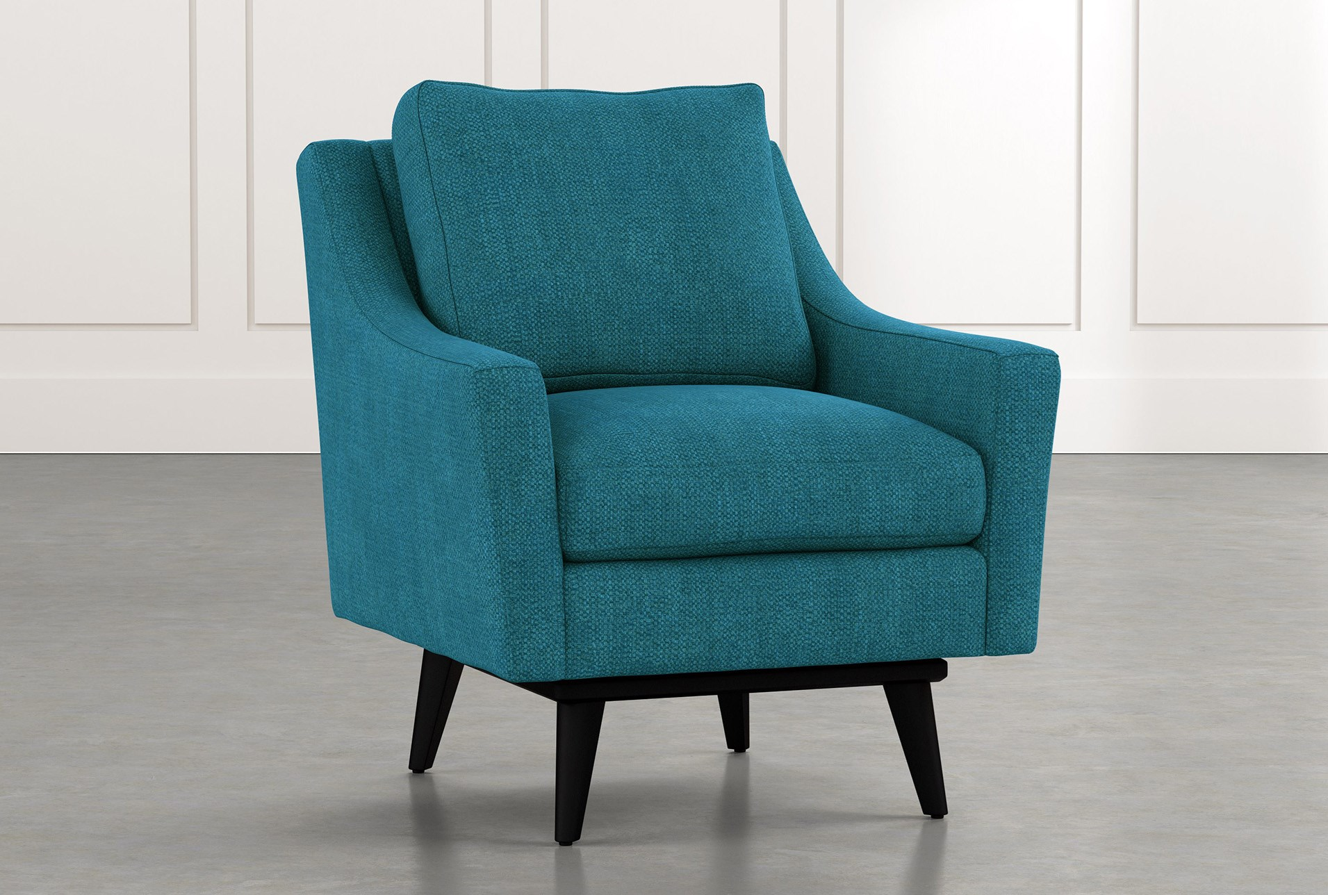 Devon Teal Swivel Accent Chair Living Spaces