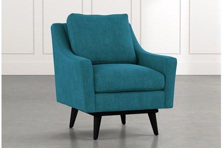 Devon II Teal Swivel Accent Chair