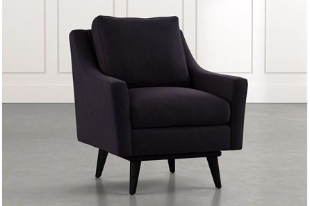 Devon II Black Swivel Accent Chair