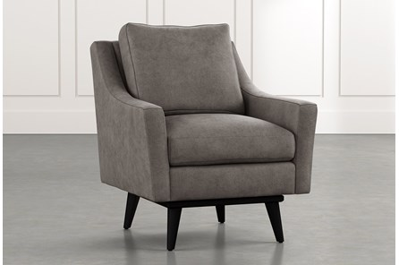 Devon II Dark Grey Swivel Accent Chair