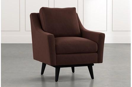Devon II Brown Swivel Accent Chair