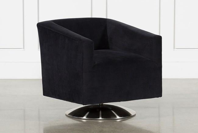Loft Black Swivel Accent Chair - 360