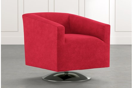 Loft Red Swivel Accent Chair