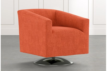 Loft Orange Swivel Accent Chair