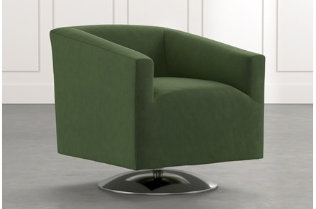Loft Green Swivel Accent Chair