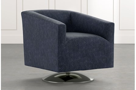 Loft Navy Blue Swivel Accent Chair