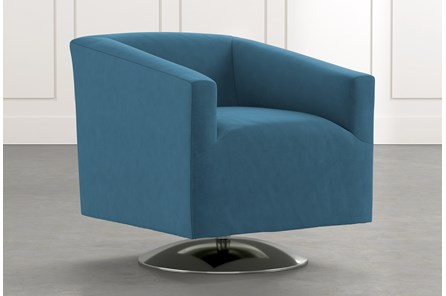 Loft Blue Swivel Accent Chair