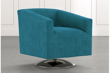 Loft Teal Swivel Accent Chair