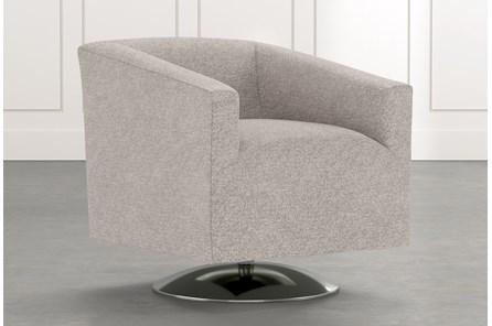 Loft Light Grey Swivel Accent Chair