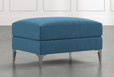 Loft Blue Ottoman