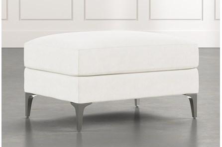 Loft White Ottoman