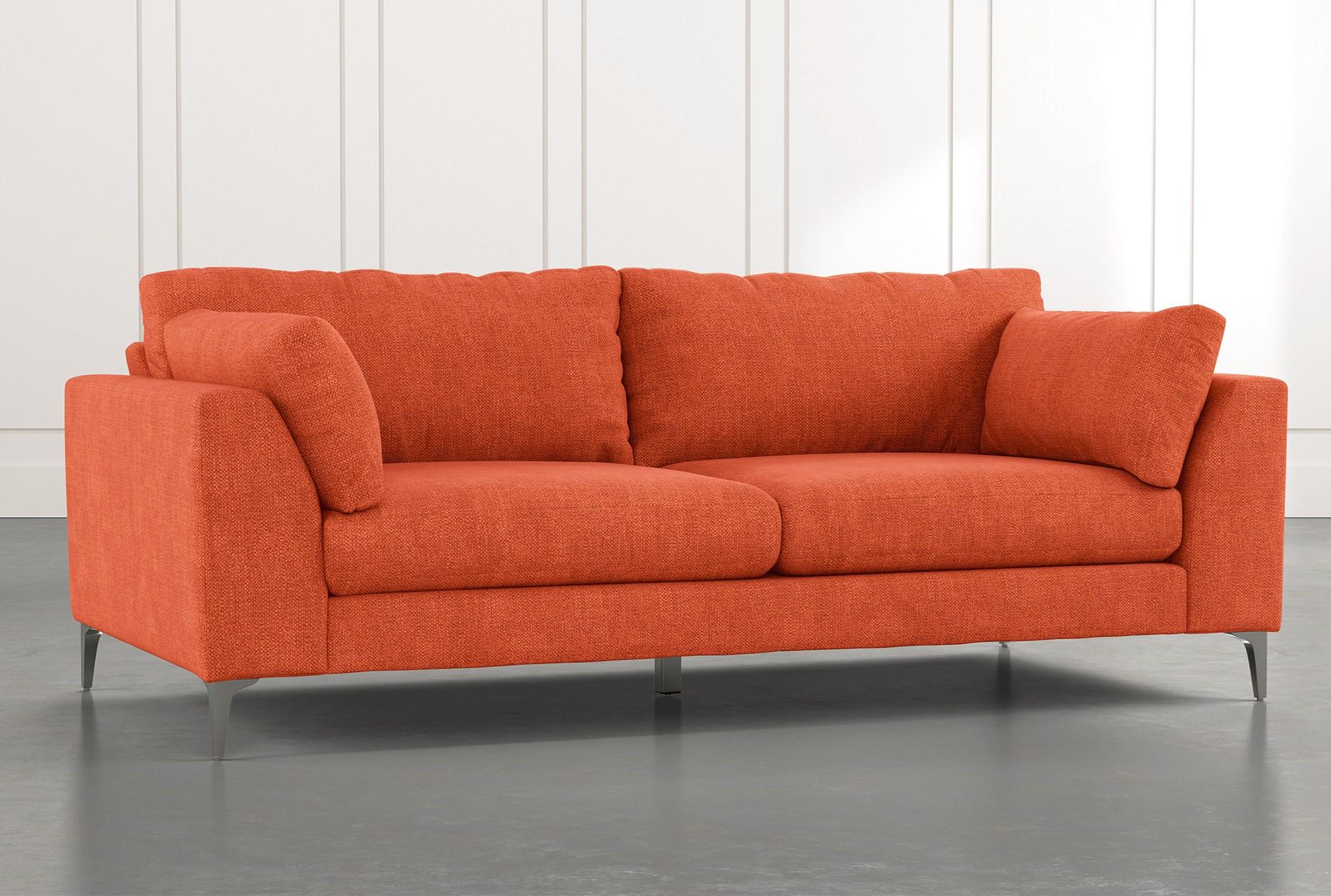 Loft Orange Sofa | Living Spaces