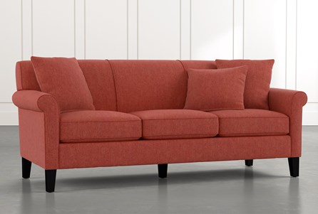 Devon II Red Sofa