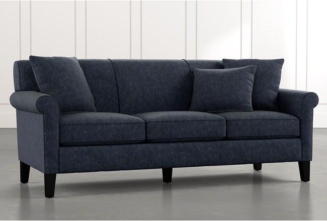 Devon II Navy Blue Sofa   Living Spaces