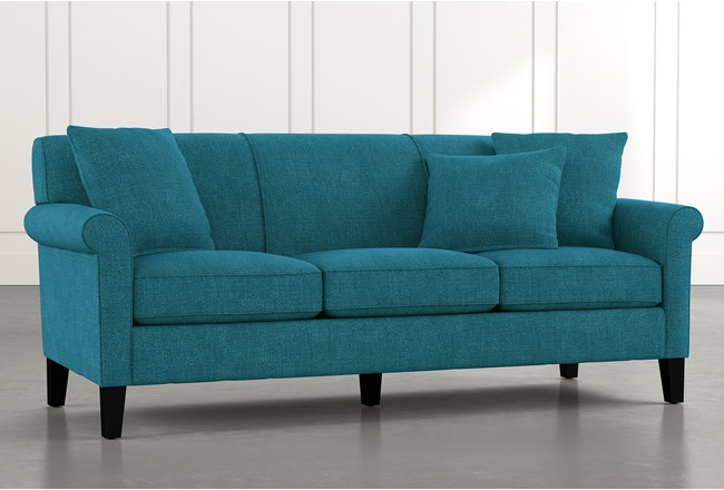 Devon II Teal Sofa - 360
