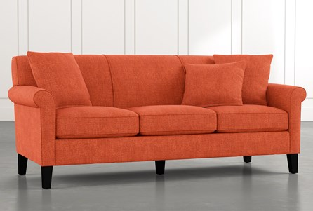 Devon II Orange Sofa