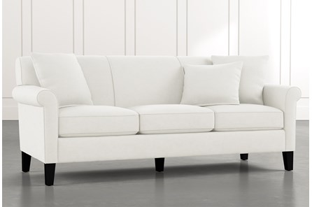 Devon II White Sofa