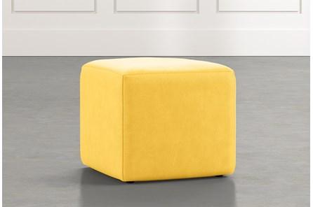 Loft Yellow Leather Ottoman
