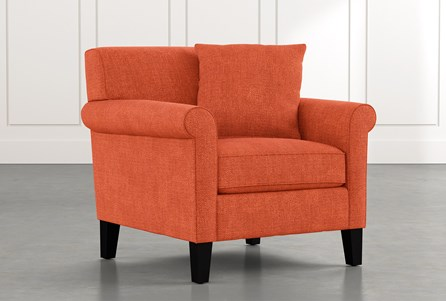 Devon II Orange Arm Chair
