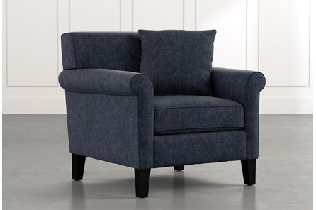 Devon II Navy Blue Arm Chair