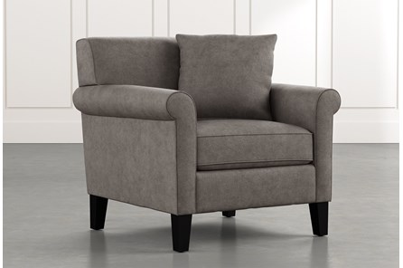 Devon II Dark Grey Arm Chair