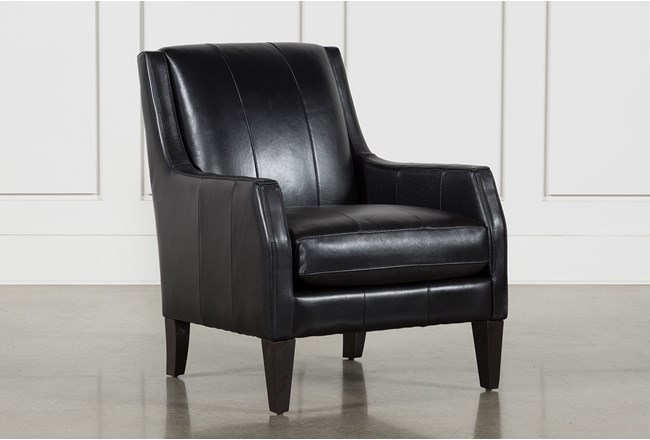 Paxton Leather Accent Chair Living Spaces