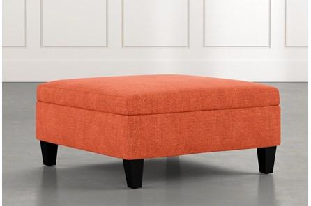 Dexter II Orange Accent Storage Ottoman