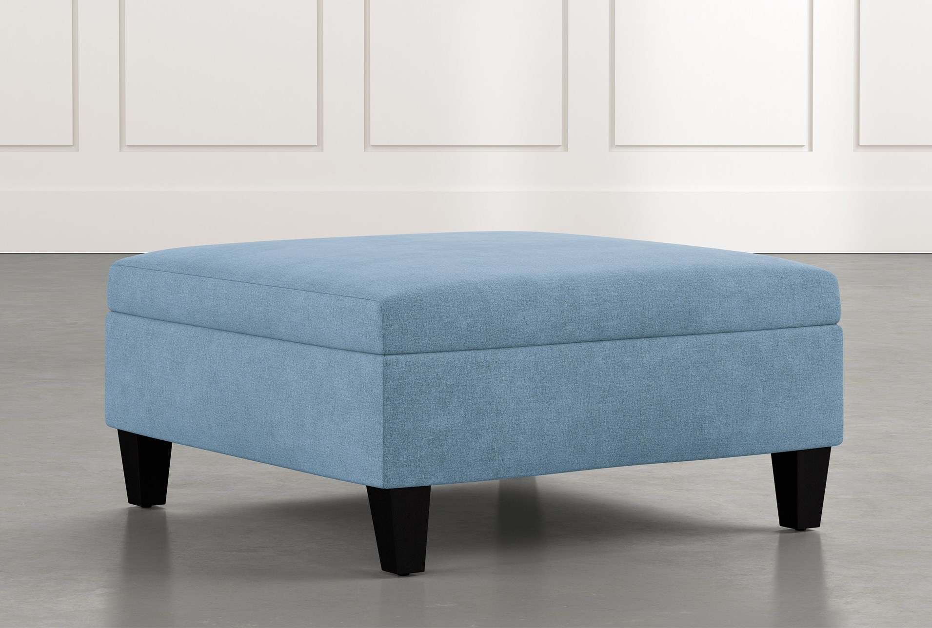 Dexter II Light Blue Accent Storage Ottoman