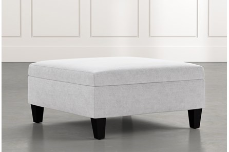 Dexter II Light Grey Accent Storage Ottoman