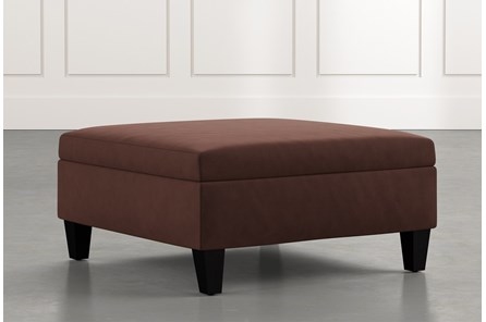 Dexter II Brown Accent Storage Ottoman