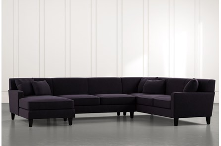 Dexter II Black 3 Piece Sectional