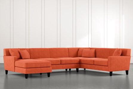 Dexter II Orange 3 Piece Sectional