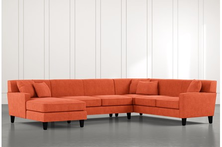 Dexter II Orange 3 Piece Sectional