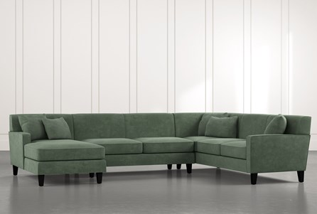 Dexter II Green 3 Piece Sectional