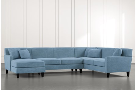 Dexter II Light Blue 3 Piece Sectional