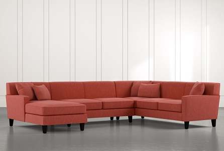 Dexter II Red 3 Piece Sectional