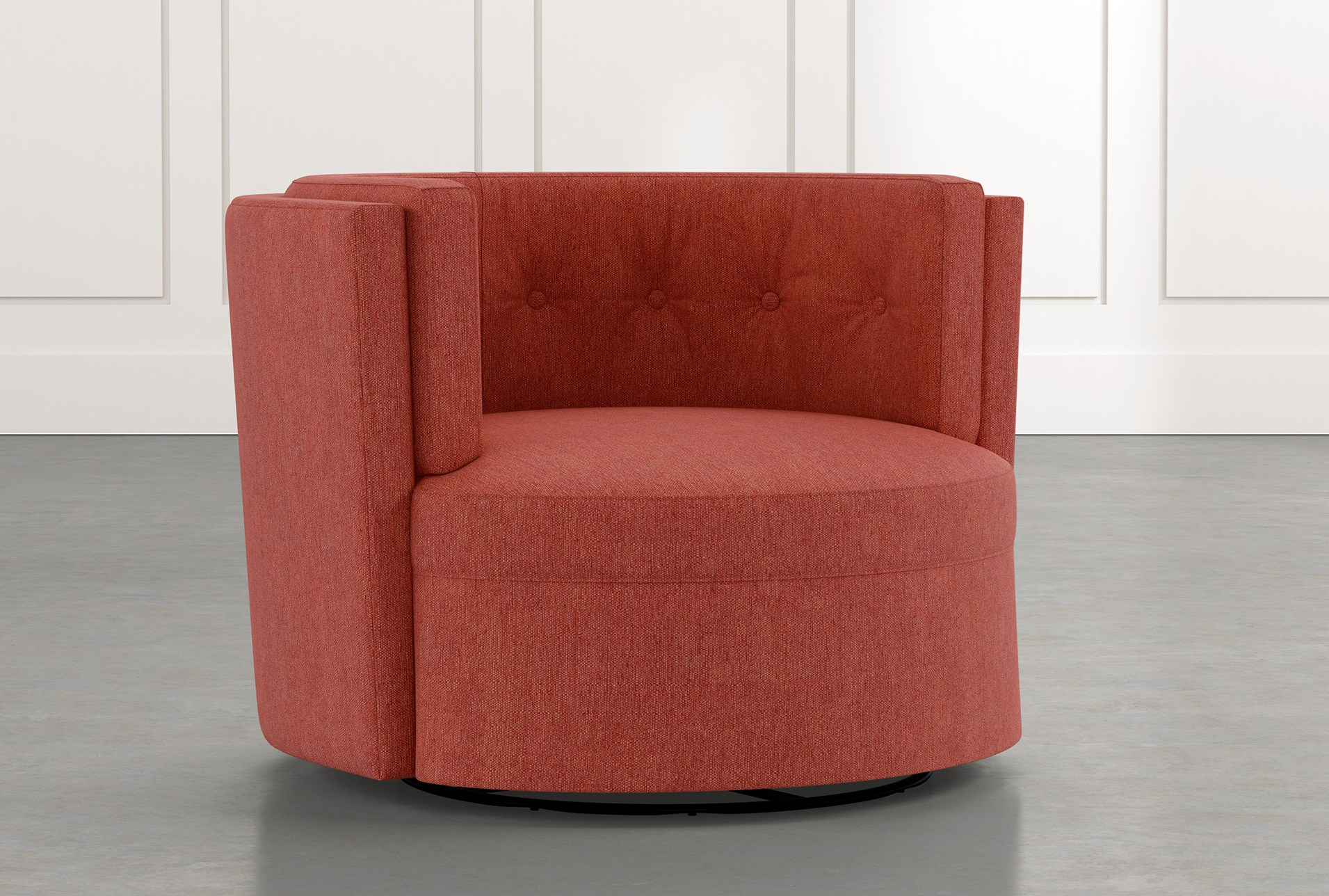 Aidan Ii Red Swivel Accent Chair Living Spaces
