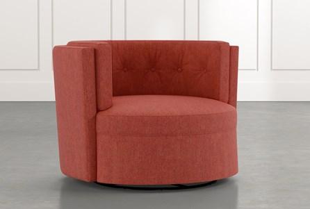 Aidan II Red Swivel Accent Chair
