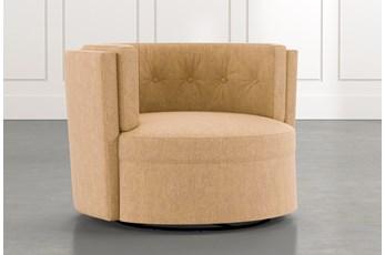 Aidan II Yellow Swivel Accent Chair