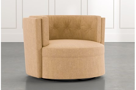 Aidan II Yellow Swivel Accent Chair